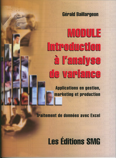 Couverture de l'ouvrage Module introduction à l'analyse de variance