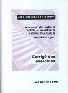 Couverture de l'ouvrage Application des cartes de contrôle et évaluation de l'aptitude d'un procédé