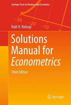 Couverture de l'ouvrage Solutions Manual for Econometrics