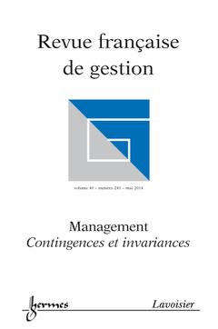 Couverture de l'ouvrage Revue française de gestion Volume 40 N° 241/Mai 2014