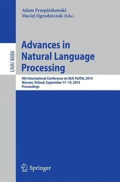 Couverture de l'ouvrage Advances in Natural Language Processing