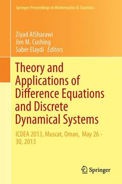 Cover of the book Theory and Applications of Difference Equations and Discrete Dynamical Systems