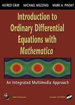 Couverture de l'ouvrage Introduction to ordinary differential equations with mathematica (w/ CD ROM)