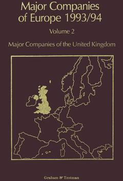 Couverture de l'ouvrage Major Companies of Europe 1993/94