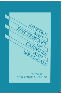 Couverture de l'ouvrage Kinetics and spectroscopy of carbenes and biradicals
