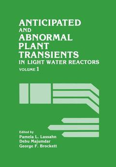 Couverture de l'ouvrage Anticipated and Abnormal Plant Transients in Light Water Reactors