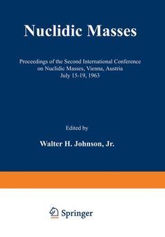 Couverture de l'ouvrage Nuclidic Masses