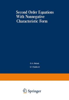 Couverture de l'ouvrage Second-order equations with non-negative characteristic form
