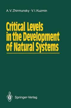 Cover of the book Critical Levels in the Development of Natural Systems
