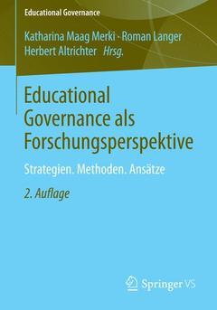 Couverture de l'ouvrage Educational Governance als Forschungsperspektive