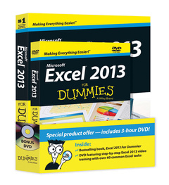 Cover of the book Excel 2013 For Dummies, Book + DVD Bundle