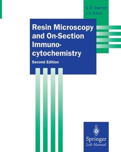 Couverture de l'ouvrage Resin Microscopy and On-Section Immunocytochemistry