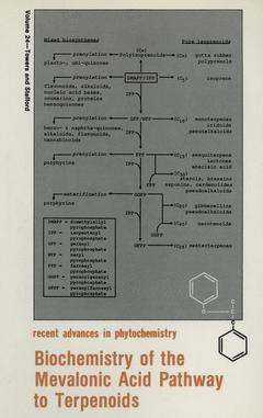 Cover of the book Biochemistry of the mevalonic acid pathway to terpenoids (recent advances in phytochemistry vol 24)