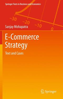 Couverture de l'ouvrage E-commerce strategy