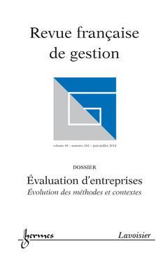 Couverture de l'ouvrage Revue française de gestion Volume 40 N° 242/Juin-Juillet 2014