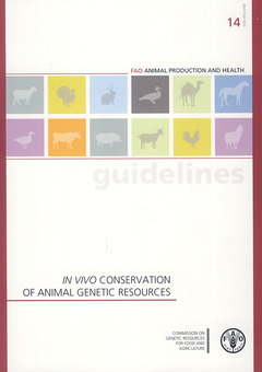 Couverture de l'ouvrage In vivo conservation of animal genetic ressources