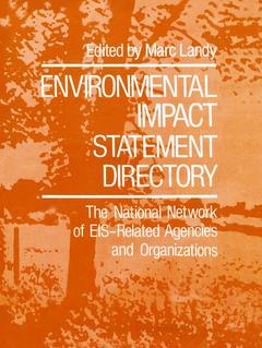 Cover of the book Environmental impact statement directory
