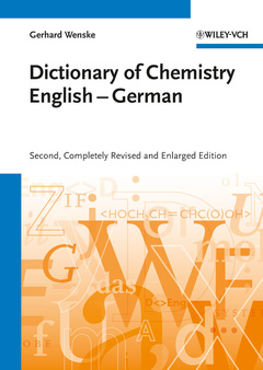 Cover of the book Chemisches Wörterbuch Englisch-Deutsch / Dictionary of Chemistry English-German