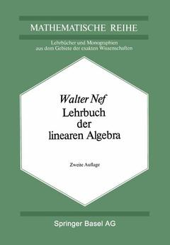 Cover of the book Lehrbuch der linearen Algebra