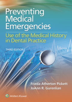 Couverture de l'ouvrage Preventing Medical Emergencies: Use of the Medical History in Dental Practice