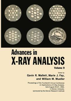 Couverture de l'ouvrage Advances in X-Ray Analysis