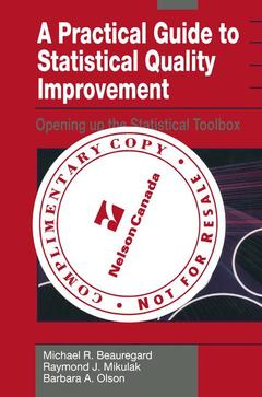 Cover of the book A practical guide to statistical quality improvement