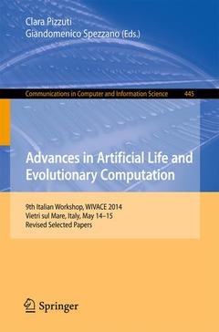Couverture de l'ouvrage Advances in Artificial Life and Evolutionary Computation