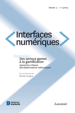 Couverture de l'ouvrage Interfaces numériques. Volume 3 N° 3/Septembre-Décembre 2014