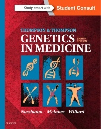 Couverture de l'ouvrage Thompson & Thompson Genetics in Medicine