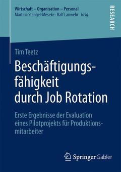 Couverture de l'ouvrage Beschäftigungsfähigkeit durch Job Rotation