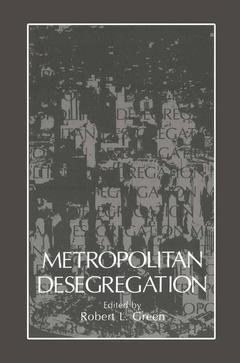 Cover of the book Metropolitan Desegregation