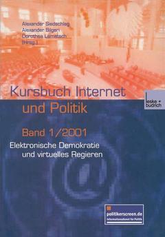 Couverture de l'ouvrage Elektronische Demokratie und virtuelles Regieren