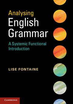 Couverture de l'ouvrage Analysing English Grammar