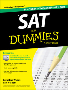 Couverture de l'ouvrage SAT For Dummie®, with Online Practice Tests