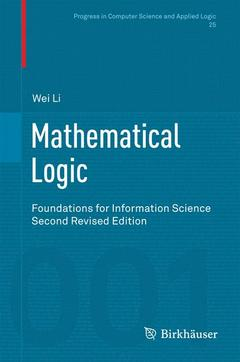 Couverture de l'ouvrage Mathematical Logic