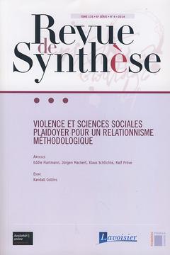 Couverture de l'ouvrage Revue de Synthèse Tome 135 - 6e Série - N° 4 -2014