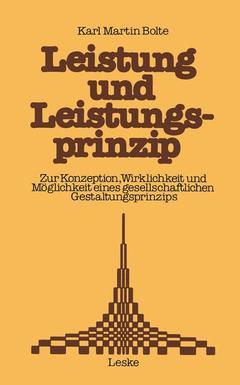 Couverture de l'ouvrage Leistung und Leistungsprinzip