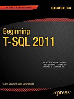 Couverture de l'ouvrage Beginning T-SQL 2012