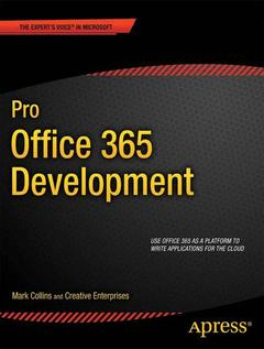 Cover of the book Pro Office 365 Development