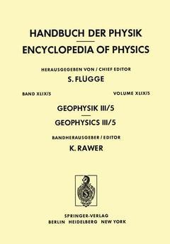 Couverture de l'ouvrage Geophysik III / Geophysics III