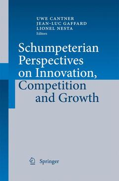 Couverture de l'ouvrage Schumpeterian Perspectives on Innovation, Competition and Growth