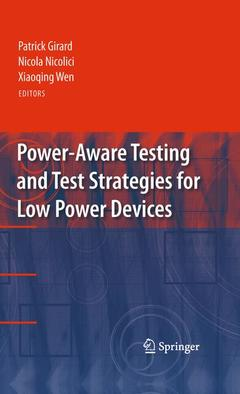 Cover of the book Power-aware testing and test strategies for low power devices