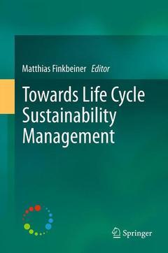 Couverture de l'ouvrage Towards Life Cycle Sustainability Management