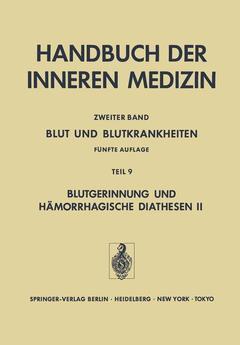 Couverture de l'ouvrage Blut und Blutkrankheiten