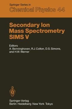 Couverture de l'ouvrage Secondary Ion Mass Spectrometry SIMS V