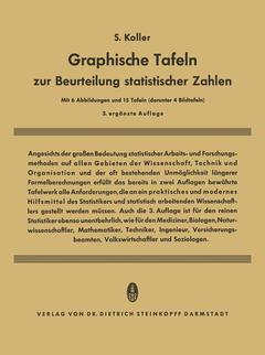 Graphische Tafeln Zur Beurteilung Statistischer Zahlen Koller Siegfried