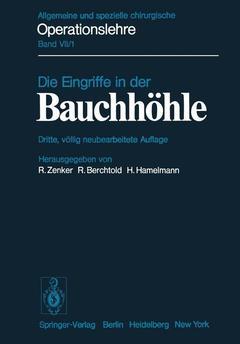 Couverture de l'ouvrage Die Eingriffe in der Bauchhöhle
