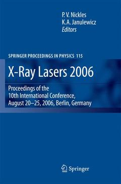 Cover of the book X-ray lasers 2006 (Proceedings in physics, Vol. 115)