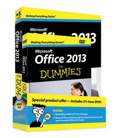 Cover of the book Office 2013 For Dummies, Book + DVD Bundle