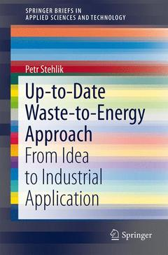 Couverture de l'ouvrage Up-to-Date Waste-to-Energy Approach